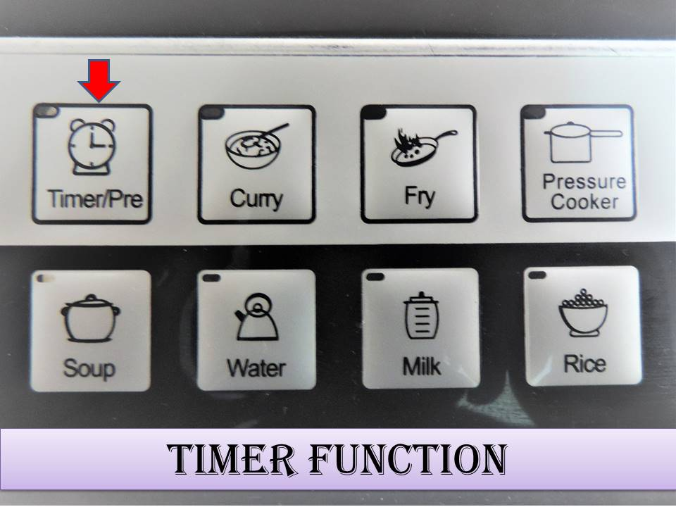 How to use the Induction Stove on Timer Mode