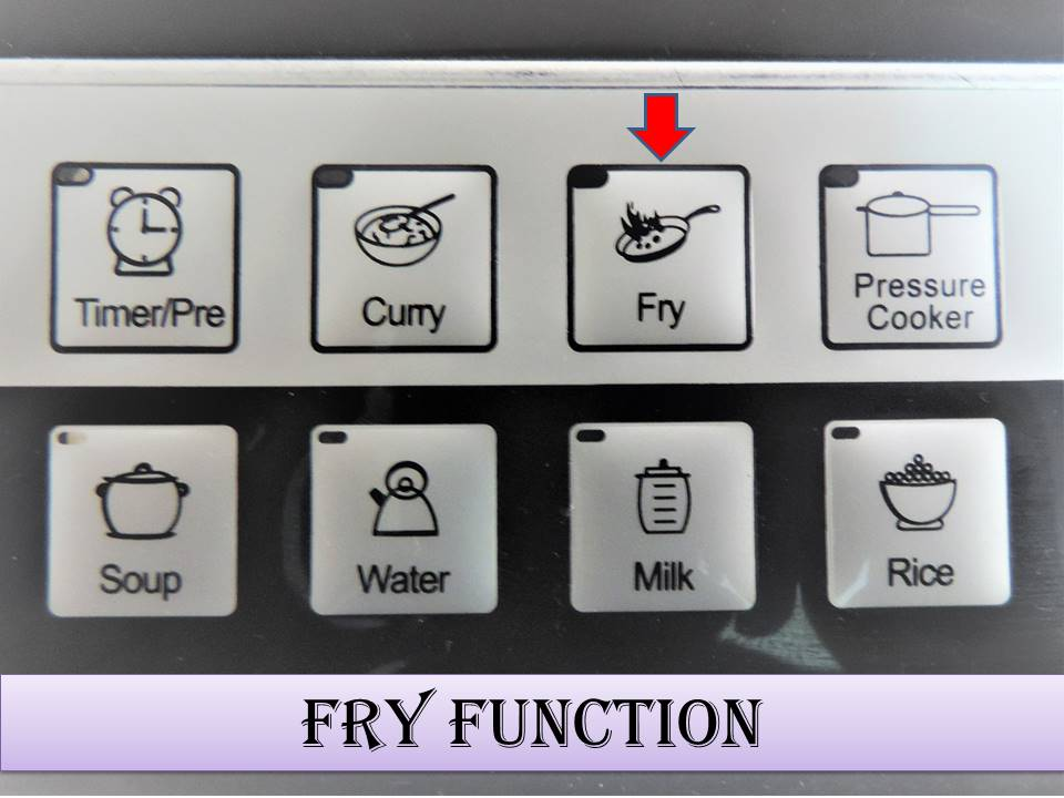 How to use the Induction Stove on Fry Mode