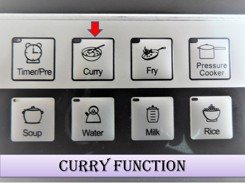 How to use the Induction Stove on Curry Mode