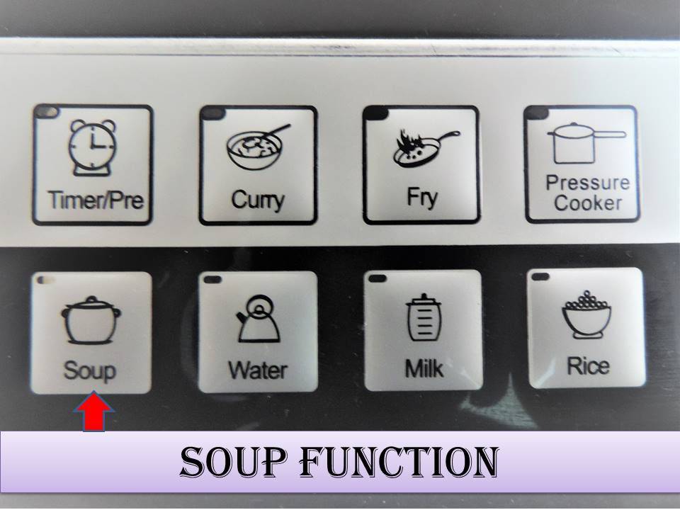How to use the Induction Stove on Soup Mode