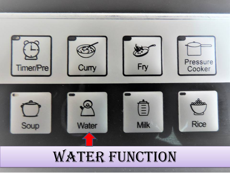 How to use the Induction Stove on Water Mode