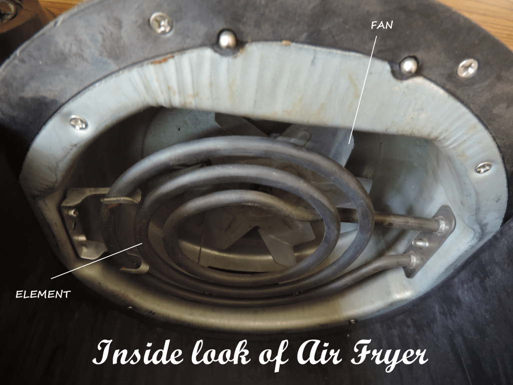 Internal components of Air Fryer