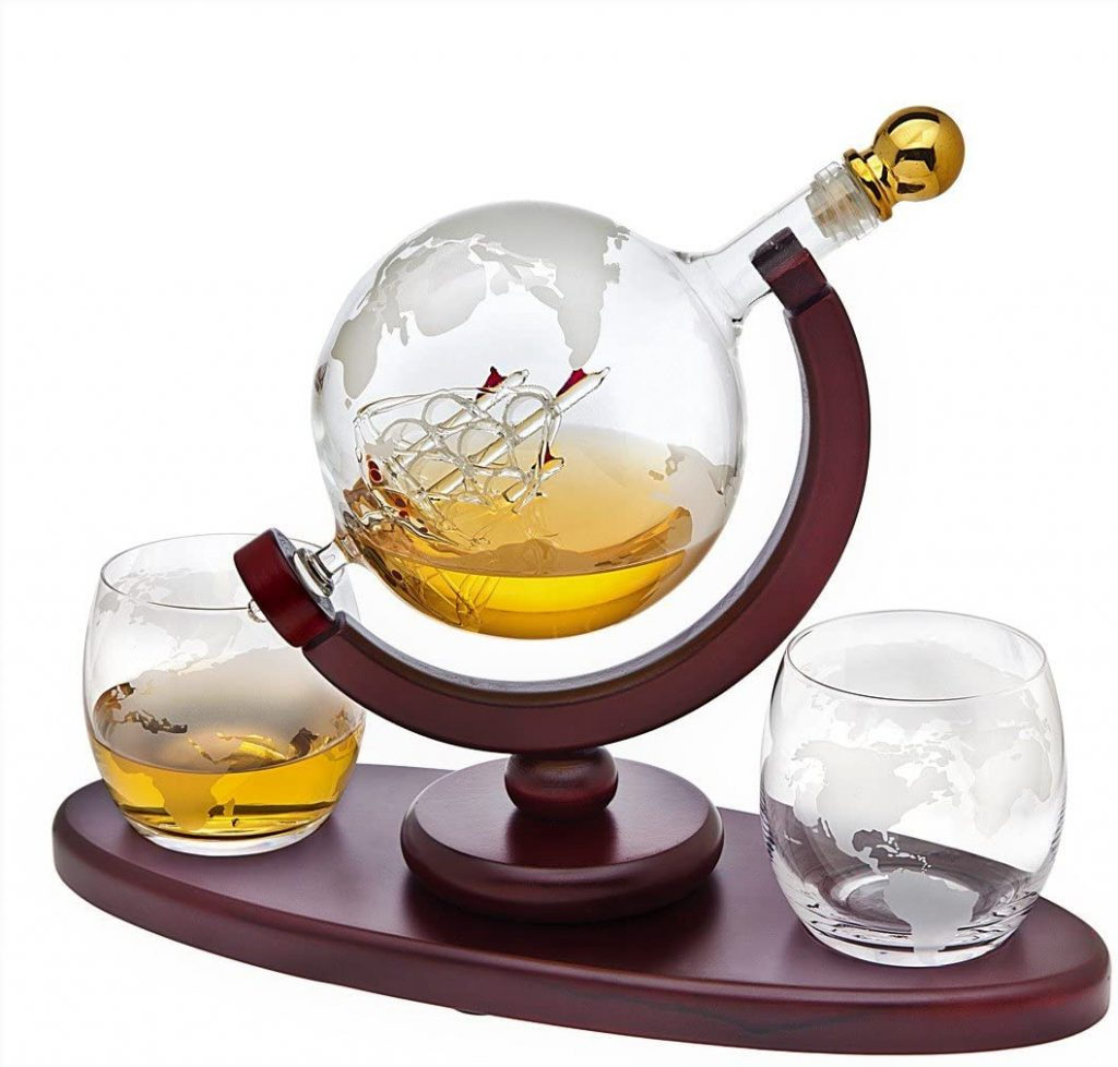 whiskey decanter- Great Gift Ideas for Father's Day